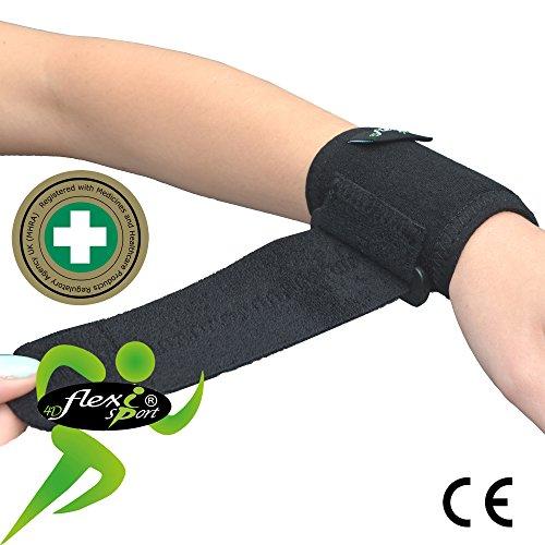 Puissance et la force pour les poignets « MATIÈRE RÉVOLUTIONNAIRE » Thermorégulatrice et hypoallergénique, aucune irritation de la peau. SANS NEOPRENE / SANS LATEX. Unisexe, Une taille pour tous.
