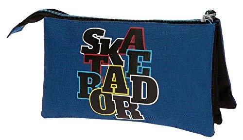 51tg uRoL%2BL - Movom Skateboard Neceser de Viaje, 22 cm, 1.32 Litros, Azul