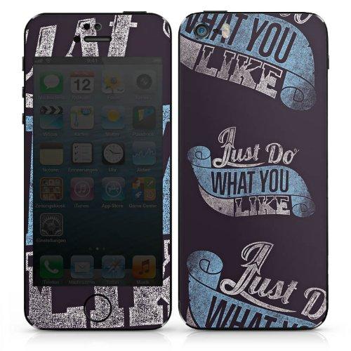Apple iPhone 4s Case Skin Sticker aus Vinyl-Folie Aufkleber College Schule Spruch DesignSkins® glänzend