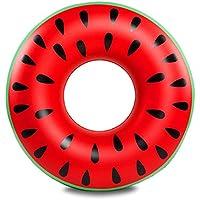 Anillo De Natación - Gigante Inflable Sandía Roja Anillo De Goma Piscina 120 Cm