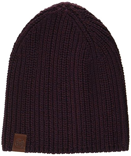 Buff Knitted A Haan Bonnet, Blackberry, Taille Unique