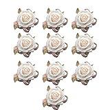 Westeng set di 10 Bracciale sposa o damigella d'onore simulazione rosa da polso fiore fiore all'occhiello per matrimoni feste o capodanno balli