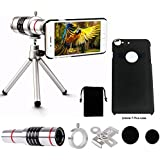 Phone Camera Lens Kit,18X IPhone Manual Focus Optical Telephone Telescope Camera Lens Kit With Flexible Tripod For IPhone 7 Plus Case-DN0066