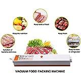 Cusfull Appareil Machine de Mise Sous Vide Alimentaire Vacuum Sealer avec 20 Sachets Sous Vide