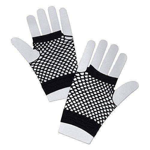 (Bristol Novelty ba570Fischnetz Handschuhe kurz schwarz, One Size)