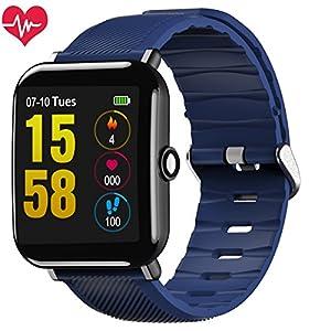 Fitness Tracker,OUKITEL W2 Fitness Armband Uhr mit Herzfrequenz, Schrittzähler Pulsmesser Schlafmonitor Kalorienzähler Beachten Kompatibel mit iOS Android Handy Lange Standby-IP67 Smartwatch