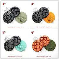 Shopystore DIATOOL 3pcs 4quot Diamond floor renew sanding disc SA622 100mm Resin bond diamond floor polishing pads Granite Marble Terrazzo 3pcs grit 1500