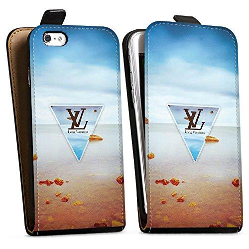 Apple iPhone X Silikon Hülle Case Schutzhülle Urlaub Strand spruch Downflip Tasche schwarz