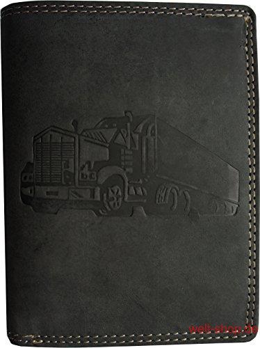 Hochwertige Geldbörse Geldbeutel Portemonnaie Büffel Wild Leder Truck LKW - Cargo-zubehör Truck