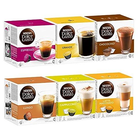 Nescafé Dolce Gusto Les Classiques Kit, 6 x 16 Capsules