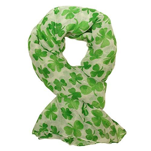 Schaltuch Kleeblatt weiß grün