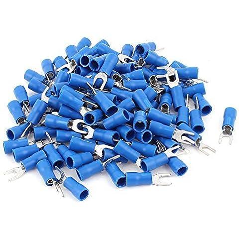 SV3.5-4 Tenedor con aislamiento AWG 14-12 Terminales de cableado 120pcs azul, Modelo:, Herramientas y