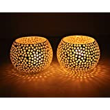 FAB D ZINES Home Decorative Votive Tea Light Candle Holder 3 Inches/Tealight Holder Set - B075V9JW67