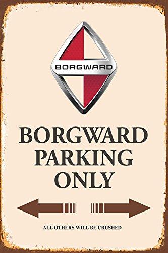 Borgward Parking only blechschild