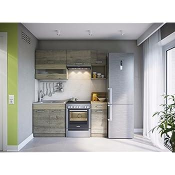 Eldorado möbel küche alina 180 trüffel sonoma küchenzeile küchenblock einbauküche komplettküche