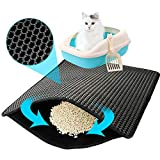 Cat Litter Mat Litter Trapping Mat, Scratching Pads for Kitty with Honeycomb Foldable