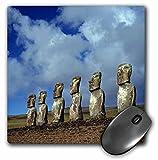 3drose LLC 20,3x 20,3x 0,6cm Maus Pad, Chile Osterinsel Moai Statuen bei Ahu Akivi RIC Ergenbright (MP _ 85940_ 1)