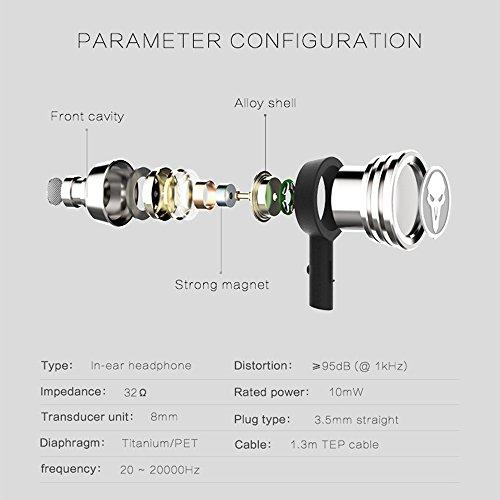 Rmplayer OT01 HiFi-Kopfhörer In-Ear für Spiel - Metallic Black - Bild 9
