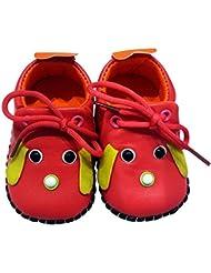 C2BB - C2BB - Chaussures premiers pas cuir souple fille   Mr shoes framboise