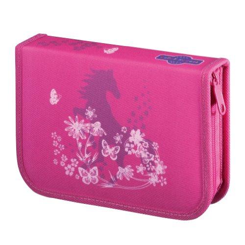 Happy School Federmappe Motiv Pink Horse Spezial Edition 51tlg gefüllt