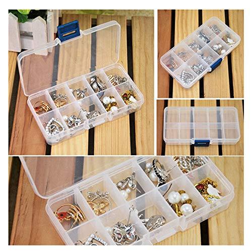 OIKAY Aufbewahrungsboxen Aufbewahrungsbox Box Halter Container Pillen Schmuck Nail Art Tips 10 Grids Boxen Kästen Kinderzimmer Gartenhäuser Aufbewahrung