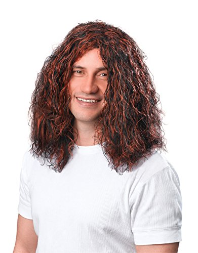 Mann Perücke Hippie braun / schwarz Erwachsenen