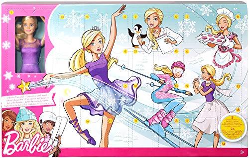 Barbie FTF92 - Adventskalender 2018, Spielzeug Weihnachtskalender mit Puppe im lila Kleid, 23 Accessoires und Moden, Mädchen Spielzeug ab 3 Jahren (Adventskalender Für Kinder)