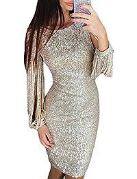Aleumdr Mujer Vestido de Noche Vestido de Moda Falda Elegante para Fiesta Size S-XL