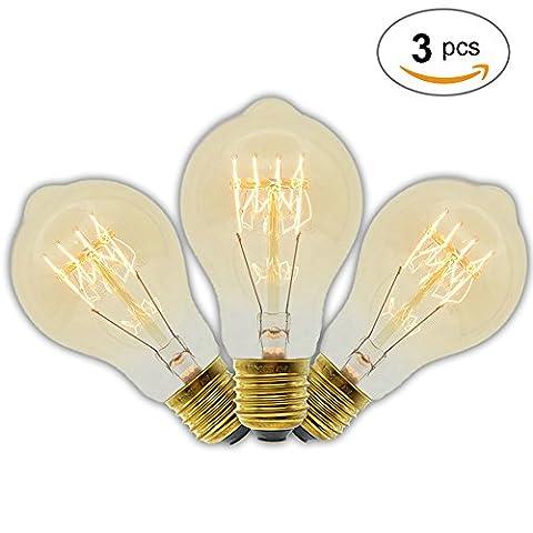 Ampoule à incandescence E27220V 40W A19ampoules à filament rétro vintage style antique Edison lampe, E27 40.0 wattsW 220.0 voltsV