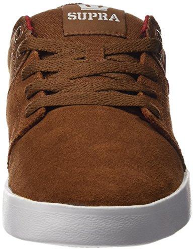 Supra Stacks II, Sneakers Basses Homme Marron (Brown/Red Wht)