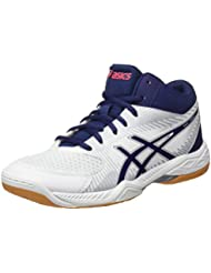 Asics Gel-Task Mt, Chaussures de Volleyball Femme, Rouge (Rouge Red/White/Mid Grey), 37.5 EU