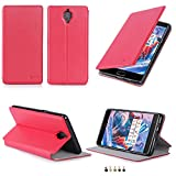 Etui luxe OnePlus 3 / OnePlus 3T rouge 2016 2017 Ultra Slim Cuir Style avec stand -...