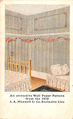 Paint & Wallpaper Advertising Old Vintage Antique Post Card SA Maxwell & Co Exclusive Line Unused -
