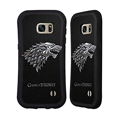 Official HBO Game Of Thrones Silver Stark Sigils Hybrid Case for Samsung Galaxy S7 edge