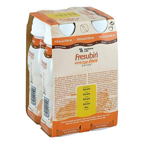 Fresenius Kabi Fresubin Energy Fibre Drink Banane Trinkflasche, 4 x 200 ml, 1er Pack (1 x 2,75 kg) -