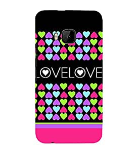 Fiobs Designer Back Case Cover for HTC One M9 :: HTC One M9S :: HTC M9 (Love Dots Lovely Beautiful Pink)