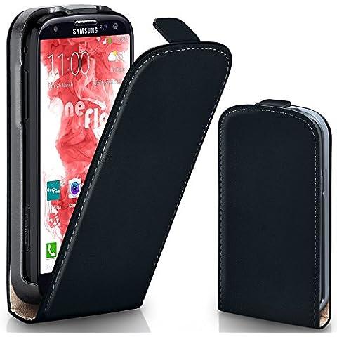 Bolso OneFlow para funda Samsung Galaxy S3 / S3 Neo Cubierta con imán | Estuche Flip Case Funda móvil plegable | Bolso móvil protección móvil paragolpes funda protectora con cubierta en Nero