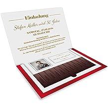 Einladungen (40 Stück) Zum Geburtstag Als Danke Schokolade Klappkarte Mit  Foto