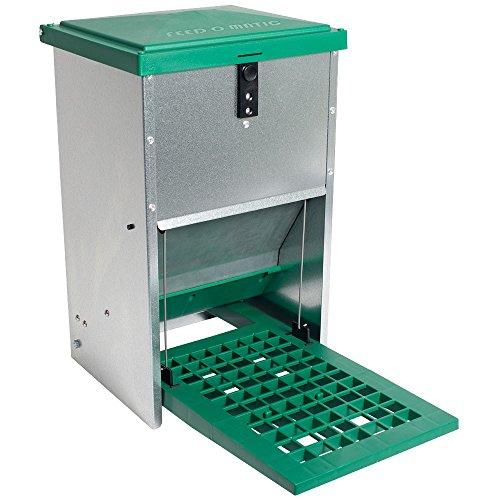 Futterautomat Feedomatic 8kg mit Trittplatte für 8kg Futter, Geflügel-Futterautomat, Hühnertrog, Futtertrog