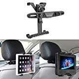 Car Headrest Mount, bedee Tablet Mount Adjustable Car Backseat Headrest Mount with 360 Degree Rotation, Universal for Portable DVD Player, Apple iPad Mini / iPad Air 2 / iPad Air / iPad 4 / iPad 3 / iPad 2 iPad Pro, Samsung Galaxy Tab, Kindle Fire , 7-12 inch tablets