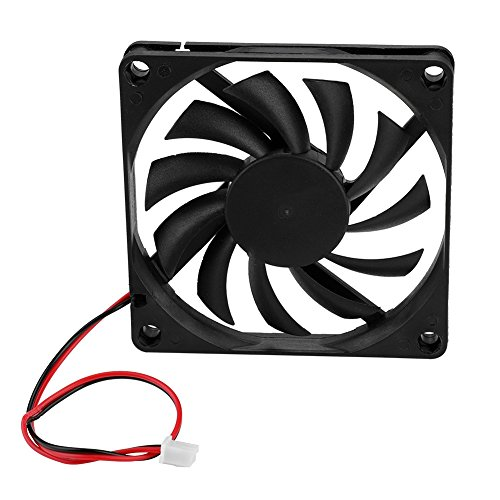 ASHATA 2PCS 80 mm Gehäuselüfter, High Speed Mini PC-Gehäuselüfter PWM PC Gehäuse Lüfter,Ultra Silent 3500 U/min 2Pin PC Cooler Cooling Fan Kühler Lüfter 12VDC für Computer Gehäuse
