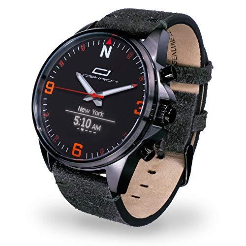 OSKRON Herren 007 Gear Herrenschmuckuhr mit Smartwatch Funktionen Anthrazit One Size - Analog Gps