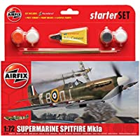 Airfix - Kit pequeño con pinturas, avión Supermarine Spitfire Mkla (Hornby A55100)