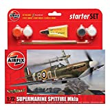 Picture Of Airfix 1:72 Supermarine Spitfire Mkia Military Aircraft Gift Set