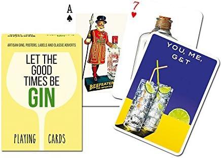 Bienvenue dans la nouvelle boutique en trois étapes pour célébrer les quatre auspicieux Piatnik P1682 Gin Carte de Jeu | Beau Design