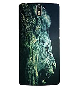 ColourCraft Roaring Lion Design Back Case Cover for OnePlus One