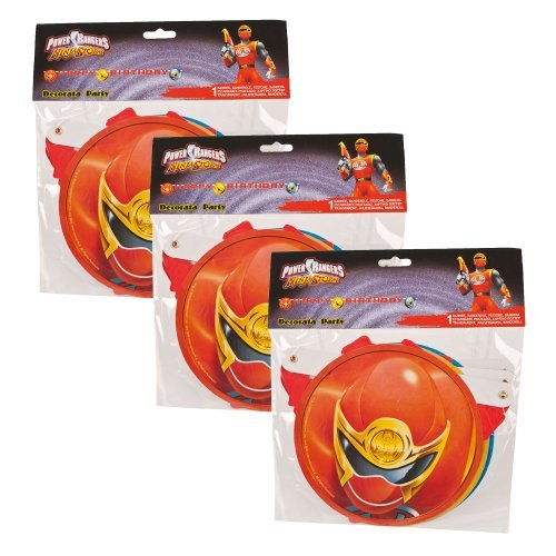 3 x Power Rangers Geburtstag Banner - NinjaStorm
