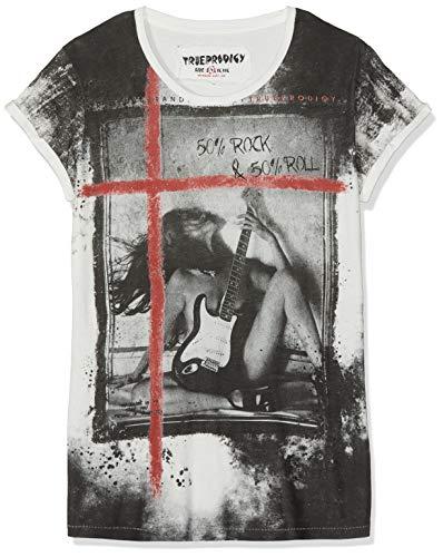lim Fit T-Shirt Rock & Roll 1062117-8005 - M - EAN, Einfarbig, Gr. Medium (Herstellergröße: M), Weiß (Offwhite 8005) ()