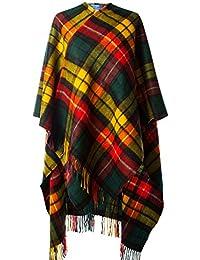 Edinburgh 100% Lambswool Scottish Tartan Long Cape