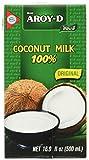 Aroy-D Kokosnussmilch (aus Thailand, Fettgehalt ca. 17%, naturbelassen und ohne Zusatzstoffe) 8er Vorteilspack à 500 ml